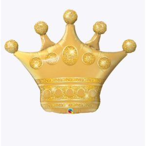 Gold Crown Super Shape Foil Balloon 41 inch
