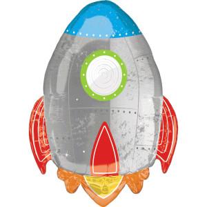 Blast off Rocket Supershape Balloon