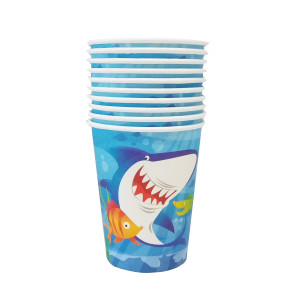 Happy Little Shark Paper Cups (8)