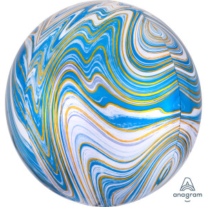 Blue Marble Orb Foil Balloon