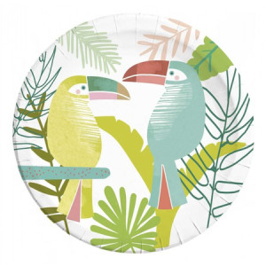 Birds of a Feather Toucan Paper Plates (8)