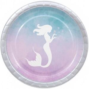 Mermaid Elegance Paper Plates (8)