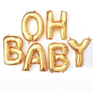 Oh Baby Gold Foil Balloon Kit 17inch