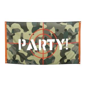 Camo Party Bullseye Backdrop