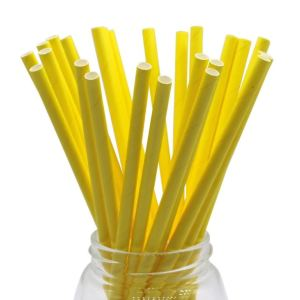 Solid Yellow Party Straws (25)
