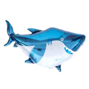 Happy Little Shark Foil Balloon