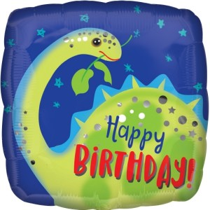 Brontosaurus Happy Birthday Foil Balloon 18 inch
