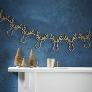 Gold Glitter Stag Head Bunting