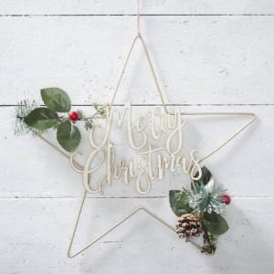Rustic Christmas - Star Wreath