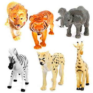 Animal Jungle Plastic Animals (6pce)