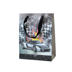 Racing Car Paper Party Bag with handle