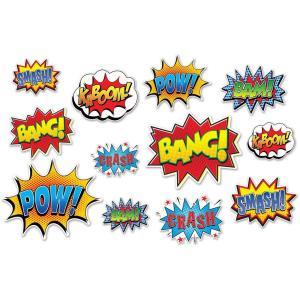 Super Hero Comic Cutouts (12 Piece)
