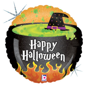 Happy Halloween Cauldron 18 Inch Balloon