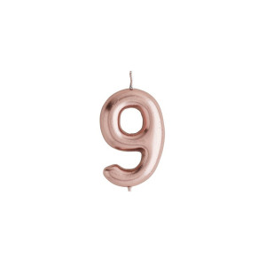 Rose Gold Candle Number 9