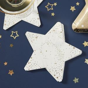 Pop The Bubbly Paper Napkins Star Shaped Napkins (16)