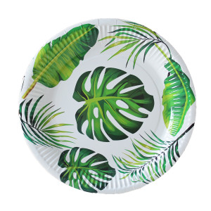 Tropical Jungle Leaves Paper Plates Large (10)