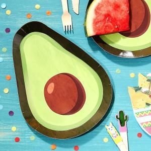 Viva La Fiesta Paper Avocado Plates (8)