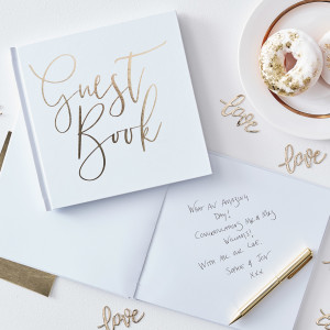 Gold Wedding Gold Foiled Guest Book