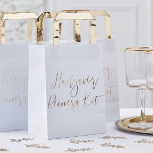 Gold Wedding Hangover Recovery Party Bags (5)