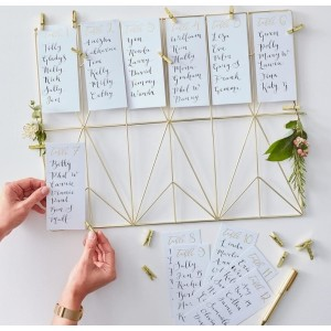 Gold Wedding Table Planner Kit