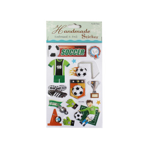 Super Soccer Embossed Sticker Sheet