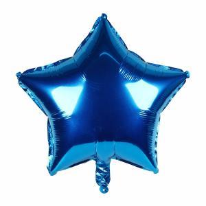 Metallic Blue Star Foil Balloon 18 inch