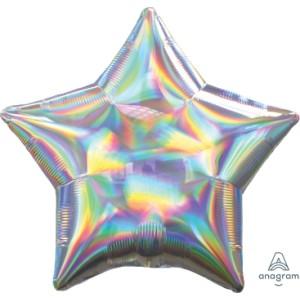 Iridescent Star Foil Balloon 18 inch