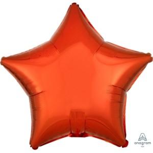 Orange Star Foil Balloon 18 inch