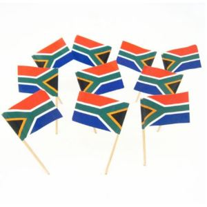 South African Flag Food Picks (50)