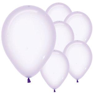Pastel Lavender Crystal Balloons (5)