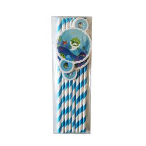 Baby Shark Paper Straws (8)