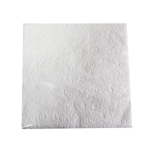 White Embossed Napkins (20)