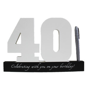 40th Memory Block with Pen