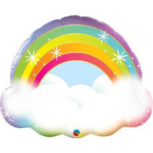 Sparkly Rainbow Super Shape Foil Balloon 32 inch