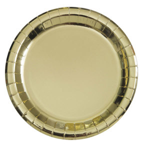 Gold Foil Lunch Plates (8)