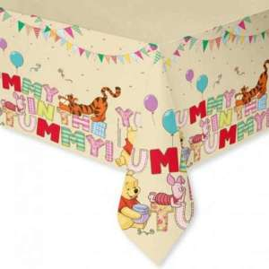 Winnie The Pooh Alphabet Plastic Table Cover
