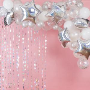 Stargazer Birthday Iridescent Balloon Arch