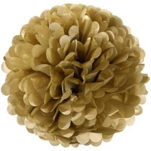 Gold Tissue Paper Pom Pom (30cm)