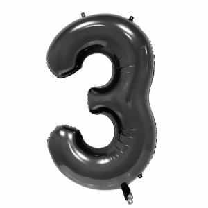 Black Foil Balloon Number 3 (42 inch)