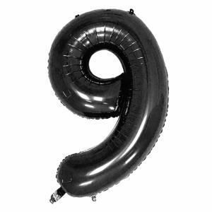 Black Foil Balloon Number 9 (42 inch)