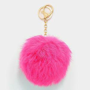 Pink Fluffy Key Chain