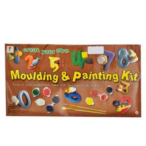 DIY Mould and Paint Your Own Number Magnets