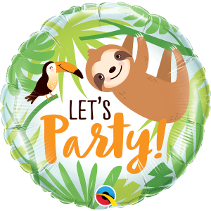 Lets Party Toucan and Sloth Foil Balloon 18 Inch