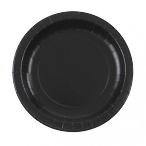 Black Lunch Paper Plates (8)