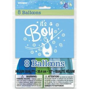 Blue Clothesline Boy Balloons(8)