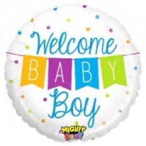 Baby Boy Banner Foil Balloon 21 inch