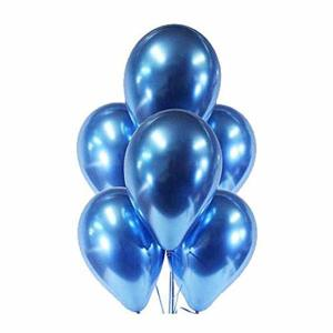 Blue Chrome Balloons (5)
