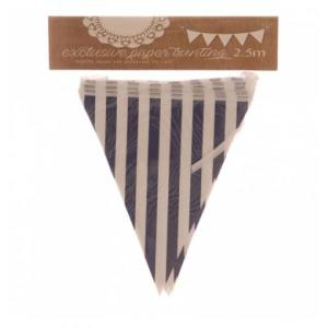 Navy Blue Striped Bunting