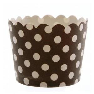 Black Dotted Baking Cup (50)