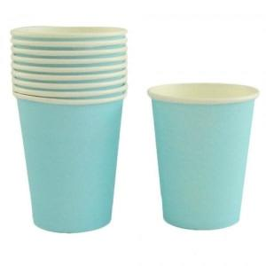 Light Blue Paper Cups 10 - XXX